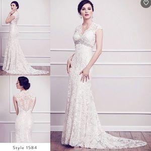 Lace Wedding Dress 10 Mermaid Kenneth Winston 1584